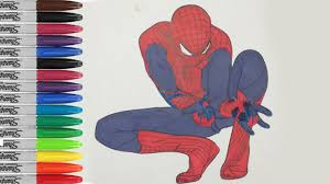spiderman shoots off the web coloring pages the amazing spiderman