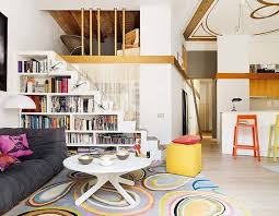White and Modern Apartments with Clever Bookshelves Ideas  Home
