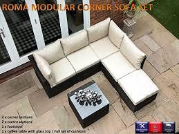 Sofa Set Amazon Roma 6pc Rattan Garden Or Conservatory Furniture Corner Sofa Set