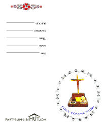 Religious Invitation Cards Impressive First Communion Invitation Design Ideas Emuroom
