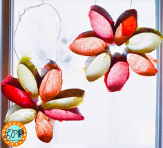 sun catcher flowers with toilet paper rolls kid craft