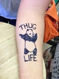 thug life letter idea for henna tattoo thug life pinterest
