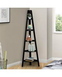 Corner Ladder Bookcase Deals On Casual Home 5 Shelf Corner Ladder Bookcase Brown