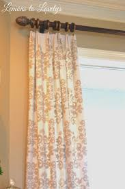 Sewing Drapery Panels Together Easy No Sew Drop Cloth Curtains With Pleats U2013 Lemons To Lovelys