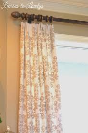 How To Make A No Sew Window Valance Easy No Sew Drop Cloth Curtains With Pleats U2013 Lemons To Lovelys