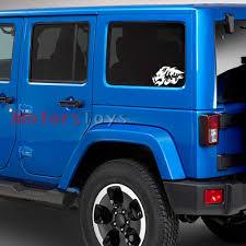 jdm jeep cool jdm wild boar 4x4 hellaflush vinyl car sticker decal for