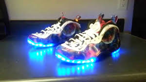 galaxy shoes light up lost galaxy led nike foosites youtube