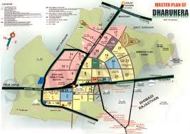 Gurgaon India Map by Dharuhera Master Plan U2013 Gurgaon Plots