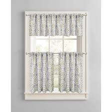 better homes and gardens gray medallions valance rod pocket