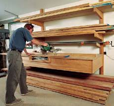 Wood Storage Rack Plans by All About Lumber Storage Finewoodworking