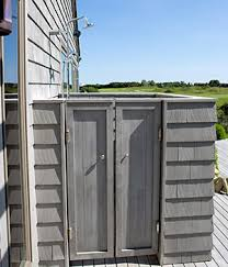 Simple Outdoor Showers - investing in your hamptons landscape top five backyard