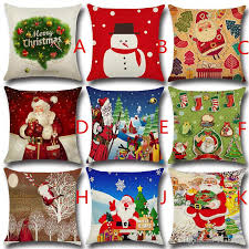 Christmas Decorative Pillow Cases by Christmas Cushion Cover Santa Claus Pattern Square Pillow Case For