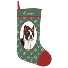 Boston Terrier Flag Personalized Boston Terrier Stocking 199950 Personalized Gifts