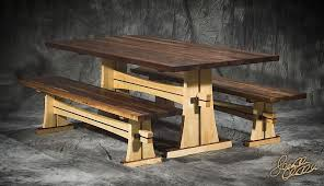 Picnic Table Plans Free Pdf by Japanese Trestle Bench Pdf Plans Round Picnic Table Plans Free