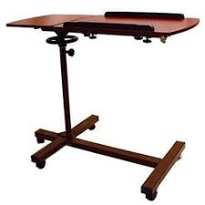 invacare hospital overbed over bed tilt top table computer tray