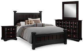 Queen Bedroom Sets Winchester 6 Piece Queen Bedroom Set Black And Burnished Merlot