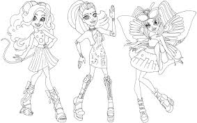 free printable monster high coloring pages gala ghoulfriends boo