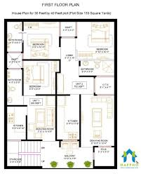 1 bhk floor plan for 30 x 40 feet plot 1197 square feet