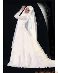 femme musulmane mariage robe de mariée avec manche empire ornée de broderie en satin