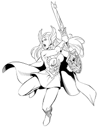 she ra coloring pages she ra by waldenwong on deviantart