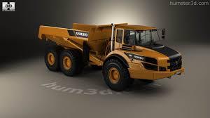volvo dump truck 360 view of volvo a40g dump truck 2014 3d model hum3d store