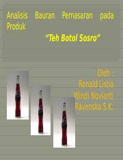 Teh Botol Sosro Pouch 230ml label 1 komposisi 2 kode produksi 3 barcode 4 expired 5 informasi