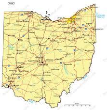 ohio map of cities ohio powerpoint map major cities roads railroads waterways