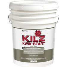 home depot 5 gallon interior paint kilz kwik start 5 gal white interior water based primer sealer