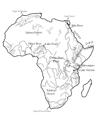 africa map black and white unit 4 mr geography for