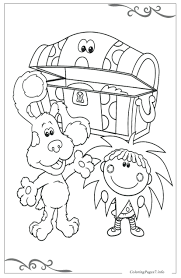 blues clues halloween coloring pages offer younger children