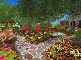 Ideas For Landscaping by Excellent Tropical Landscape Design Tampa For Landscaping Front