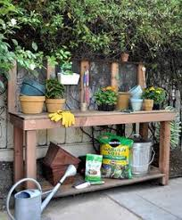 Plant Bench Plans - diy party cart potting bench diy party bench and gardens