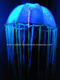 Led Light Halloween Costume Homemade Glowing Jellyfish Costume Mermaid