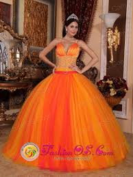 orange quinceanera dresses orange fantastic quinceanera dresses with v neck with spaghetti