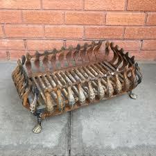 vintage cast iron fire basket fire grate fire place fireplace