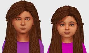sims 4 kids hair braids sims 4 nexus