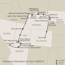 Salt Lake City Airport Map Us National Parks U0026 Denver Guided Tour Globus
