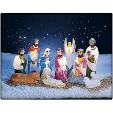 Outdoor Lighted Nativity Sets For Sale Union Plastic Inc 12 Pc Lighted Blow Mold Nativity Set