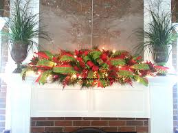 mantel garland swag fireplace mantle azeleapetals