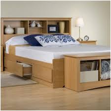 Headboard Bookshelf Queen Platform Bed With Storage And Headboard Bookcase Gallery