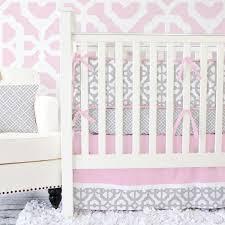 Grey Nursery Bedding Set Pink And Grey Crib Bedding Caden