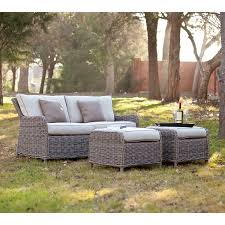 newport outdoor wicker 7 piece dining set brown finish sams club
