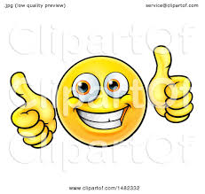 clipart of a happy yellow emoji smiley emoticon holding