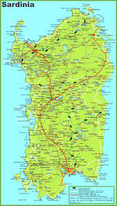 Italy Map Tuscany by Large Detailed Map Of Sardinia With Cities Towns And Roads