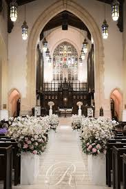 Wedding Aisle Decorations Lush Luxurious Aisle Decor Toronto Church Wedding Ceremony