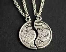 couples necklace mizpah necklace etsy