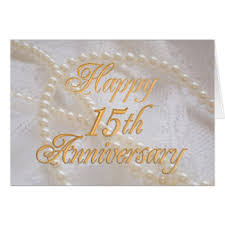 15th wedding anniversary cards 15th wedding anniversary greeting