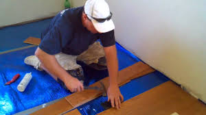 Laminate Flooring Over Concrete Slab How To Install A Floating Hardwood Floor Youtube