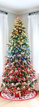 rainbow tree ornaments skirt topper lights
