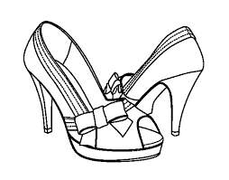 shoes with bow coloring page coloringcrew com